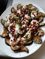 aubergine-pomegranate